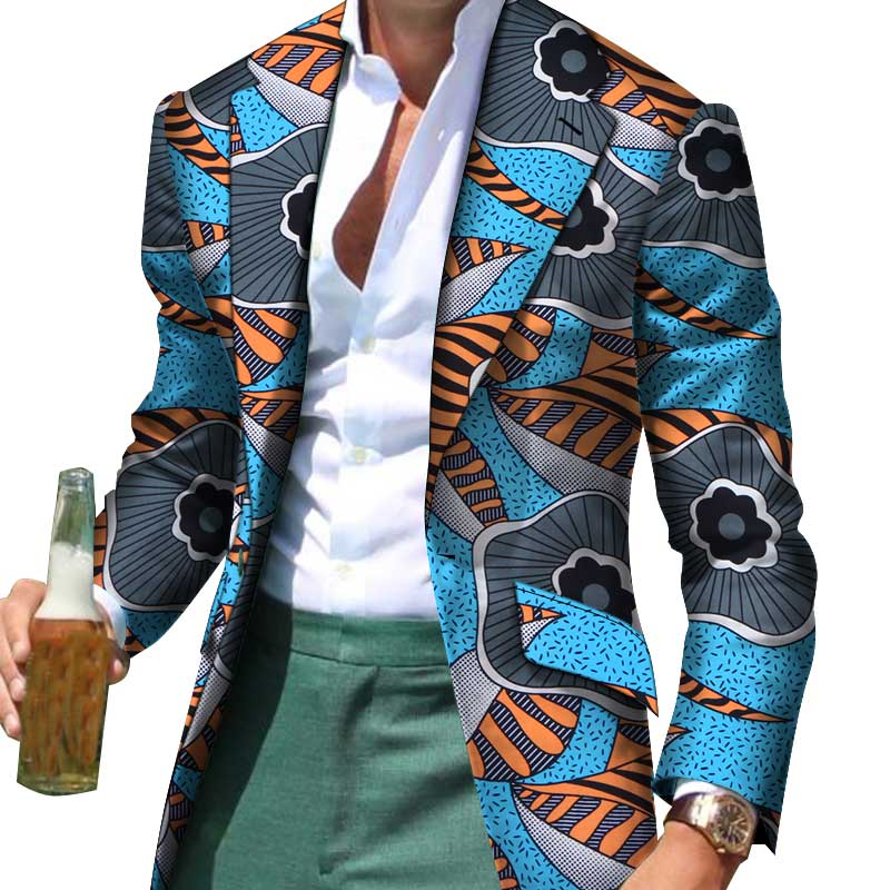 African Men Clothes Smart Causal Customized Slim Fit Fancy Suit Blazer Jackets Formal Coat Business Dashiki Party Wedding WYN530