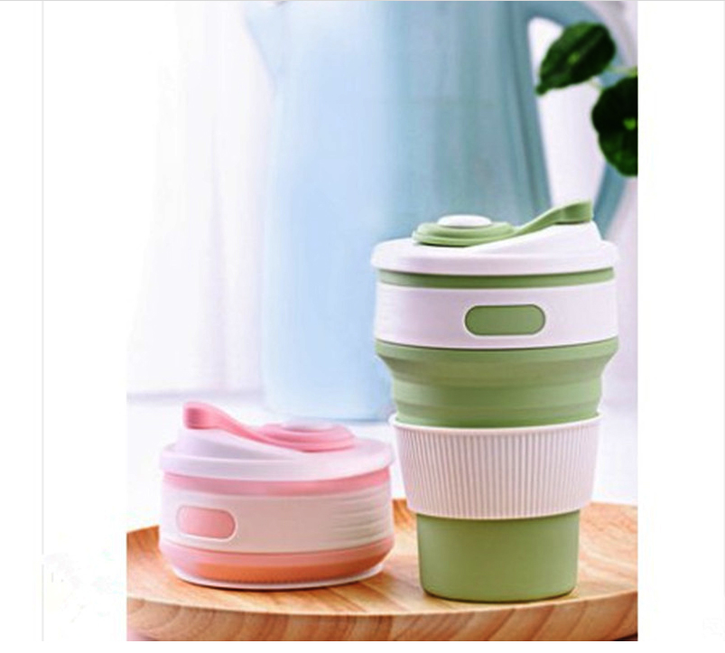 Portable Silicone Cup Hot Folding Silicone Telescopic Multi-function Collapsible Drinking Coffee Cup Foldable Silica Mug Travel