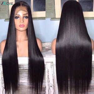 Image 2 - Transparent Lace Wigs Straight Lace Front Wig 4X4 Closure Wig Human Hair Wigs For Women Brazilian Hair Wigs 250 Density Lace Wig