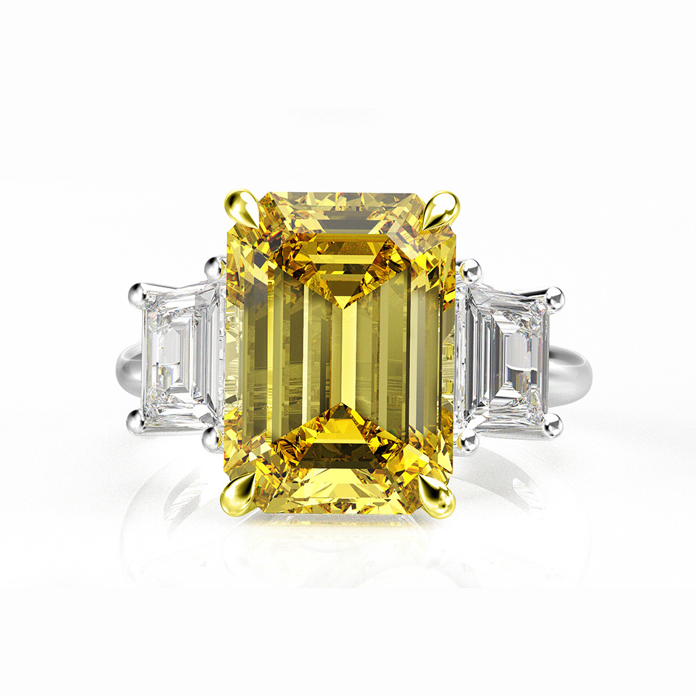 Princesse coupe 8ct Moissanite bague en diamant 100% Original 925 en argent sterling fiançailles bague de mariage anneaux pour les femmes bijoux de fête