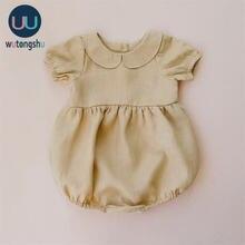 Одежда для маленьких девочек; Летний повседневный комбинезон