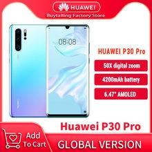 100% oryginalna wersja globalna Huawei P30 Pro telefony komórkowe 6.47 ''8GB 256GB Kirin 980 Octa Core Android 10 w ekranie do 50x zoom