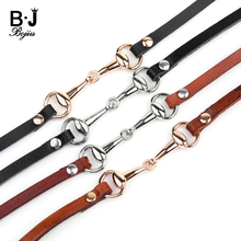 BOJIU Boho Brown Black Leather Wrap Bracelets Men Gypsy Hippie Punk Gold Silver Zinc Alloy Magnetic Clasp Rope Bracelet BC357 недорого