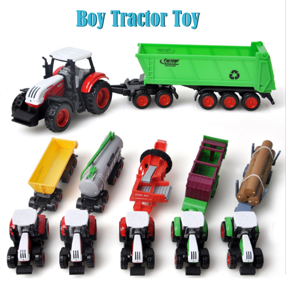 Car Toys For Boys Plastic Interactive Car Toys For Children Alloy Engineering Car Tractor Vehicle Farm Vehicle Belt Boy ToyW816