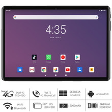 Versão Global 10 polegada Tablet 2.4G 5G Marca Dupla WIfi Dual Sim 4G LTE Octa Núcleo Tipo C-Porta Traseira do pixel 5.0 MP Pad планшетный ПК