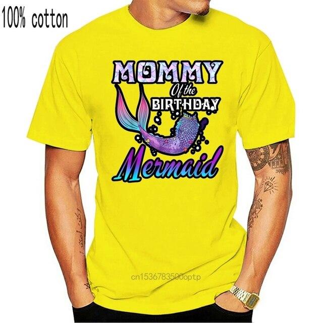Maman de lanniversaire chemise sirène correspondant tenues de fête-t-shirt homme-noir