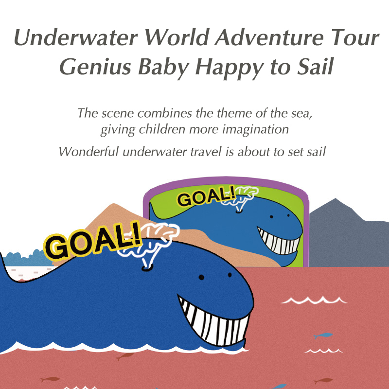 Bebé mar brillante paso a través de la gran aventura pista de juguete del tren bola rodante rompecabezas de deslizamiento juguete educativo temprano niño niña coche regalo - 2