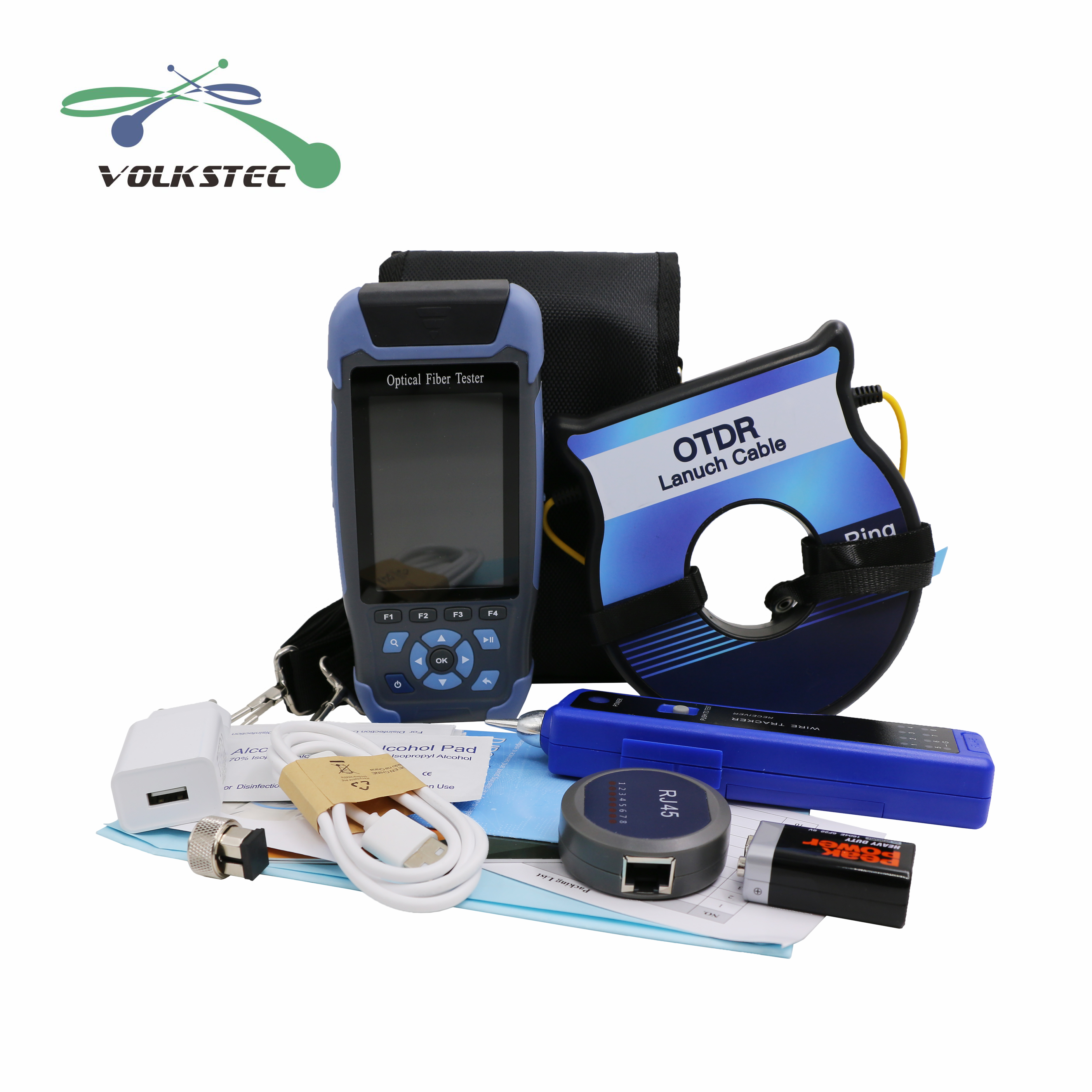 2020 New 5 In 1 OTDR Optical Time Domain Reflectometer OPM VFL LS Cable Tester +1KM OTDR SM Launch Cable Free Shipping