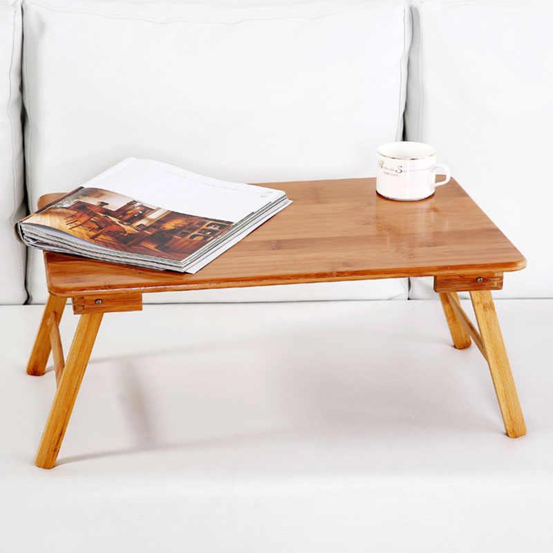 Складная портативная бамбуковая компьютерная подставка, стол для ноутбука, стол для кровати, диван-кровать, лоток для учебы, кровать, рама