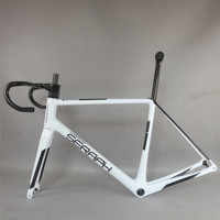 Seraph brand weight 1058g size 56cm custom white paint Disc road frame FM639 all inner cable