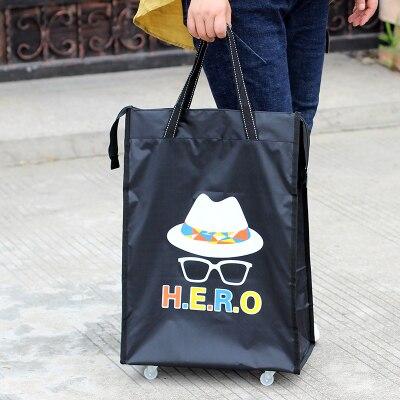 Портативная тележка для продуктов Женская Мужская сумка складная сумка тележка Сумка на колесах купить Сумка для овощей хозяйственная сумка трейлер XYLOBHDG - Цвет: F
