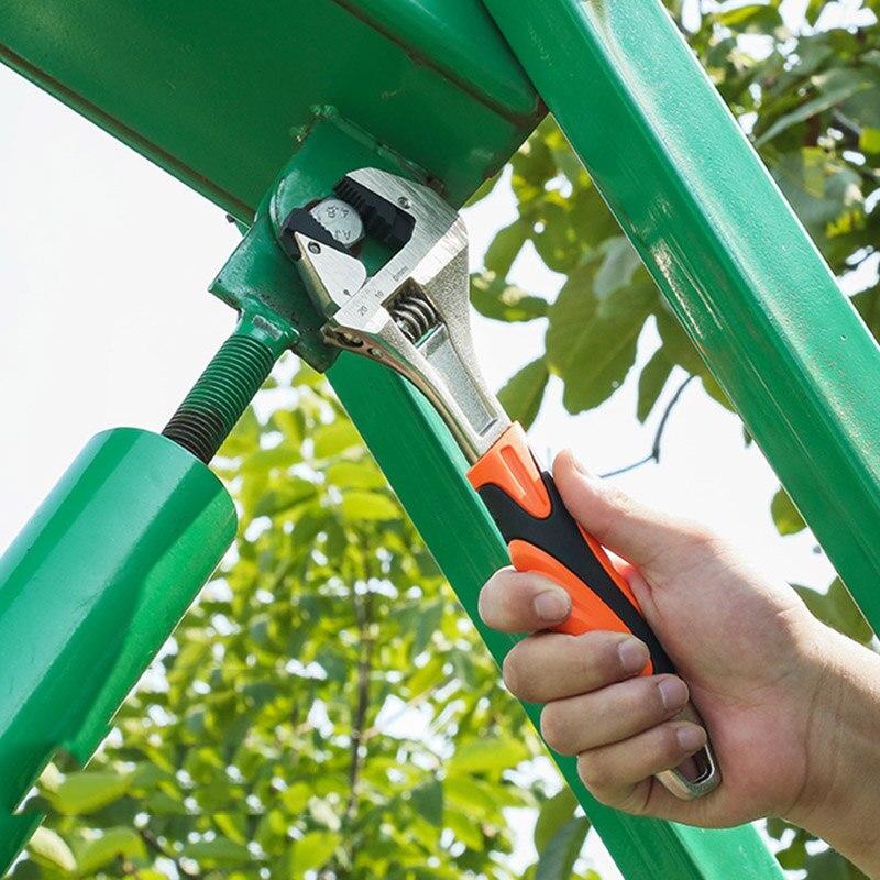 Self Adjusting Wrench Hard Alloy Ergonomic Handle Comfortable Grip Polished Chromed Adjustable service hand tool WWO66