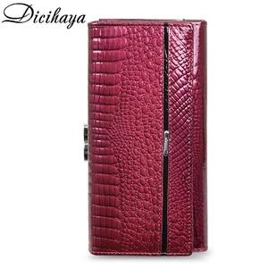 Image 3 - DICIHAYA Women Clutch Genuine Leather Wallet Female Long Wallets Women Zipper Purse Crocodile Money Bag Purse Phone Bags