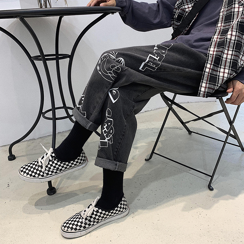 Image 5 - 2019 Mens Lovers Cartoon Printing Baggy Homme Casual Pants 