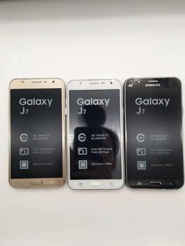 100 ٪ الأصلي سامسونج غالاكسي J7 مقفلة الهاتف المحمول 5.5 بوصة ثماني النواة 13.0MP 1.5GB RAM 16GB ROM 4G LTE الهاتف الخليوي تجديد 1