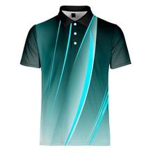 Wamni camisa listra masculina 2019 negócios casual musculação esporte turn down colarinho gradiente manga curta camisa S 4XL