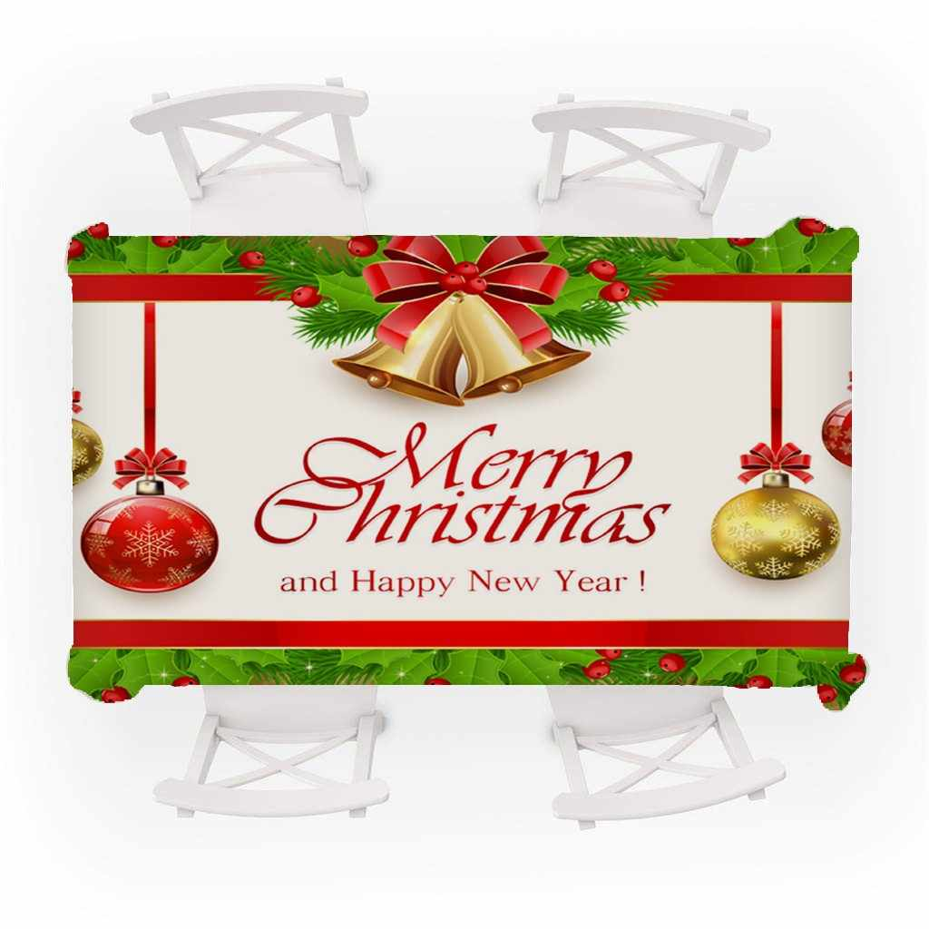 החג שמח PVC שולחן בד נואל 2019 חג המולד דקור חג מולד בבית נואל מתנת חג מולד פריטים מוצר קישוט חדש שנה 2020