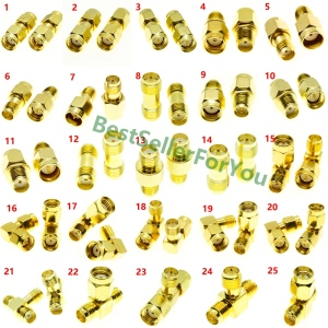 1Pcs SMA Connector To SMA Connector Male Female RP SMA Connector To SMA Connector Male RPSMA Connector RF Adapter