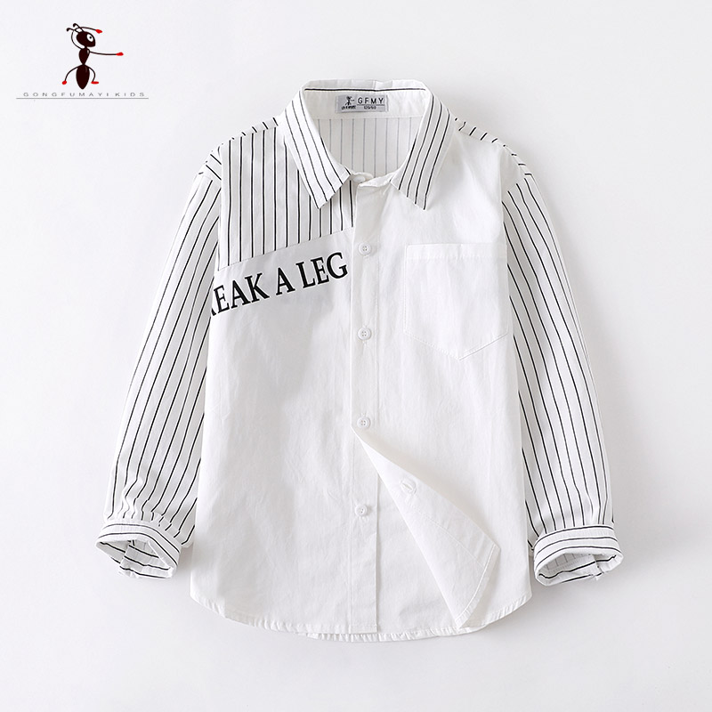 Kung Fu Ant 2019 Autumn Casual Full Sleeve Turn Down Collar Printing 100 Cotton Children 39 s Shirts 12T Big Boy Shirt in Shirts from Mother amp Kids