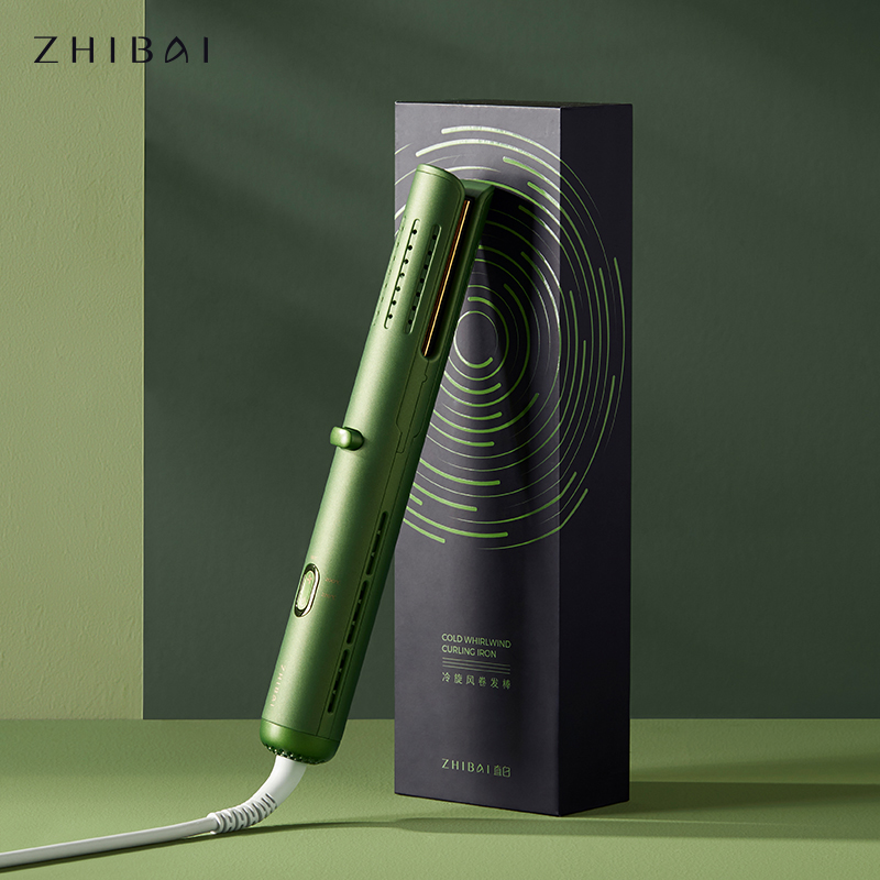 ZHIBAI Green Thermostat Curling Iron Stick Low Temperature Cold Wind Hair Styling Tool Wave Iron Stick Big Wave Curler|Curling Irons| - AliExpress