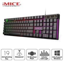 Wired Gaming Tastatur Led Backlit Tastaturen 104 Tasten Wasserdichte Tastenkappen Gamer Tastaturen Computer Nachahmung Mechanische Tastatur