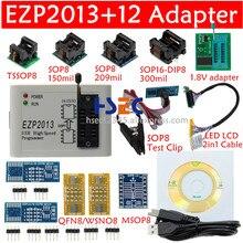 Conjunto completo de adaptador, ezp2013 usb spi programador sop8 clipe de teste soic8/16 1.8v soquete flash madeira ezp2010 ezp2019 suporte 24 25 eeprom