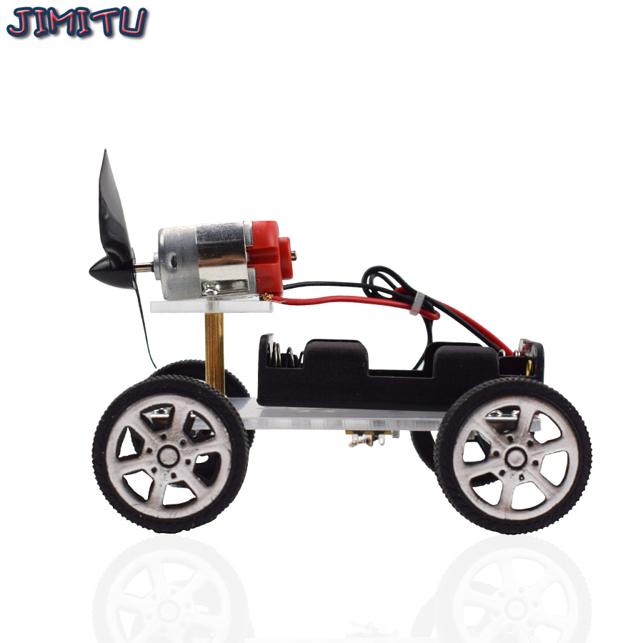 Wind Power Car DIY Electronic Kit Technology Science Toys Educational Kits for Children Experiment Creative Invention School Toy