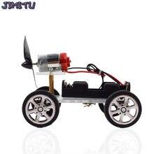 풍력 자동차 DIY 전자 키트 기술 과학 완구 어린이를위한 교육 키트 실험 크리 에이 티브 발명 학교 장난감