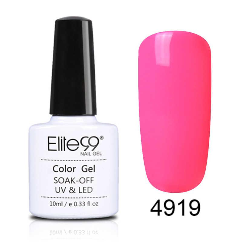 Elite99 10ml Macaron UV Gel esmalte de uñas híbrido Semi permanente manicura laca remojo de Color de verano uñas gel polaco