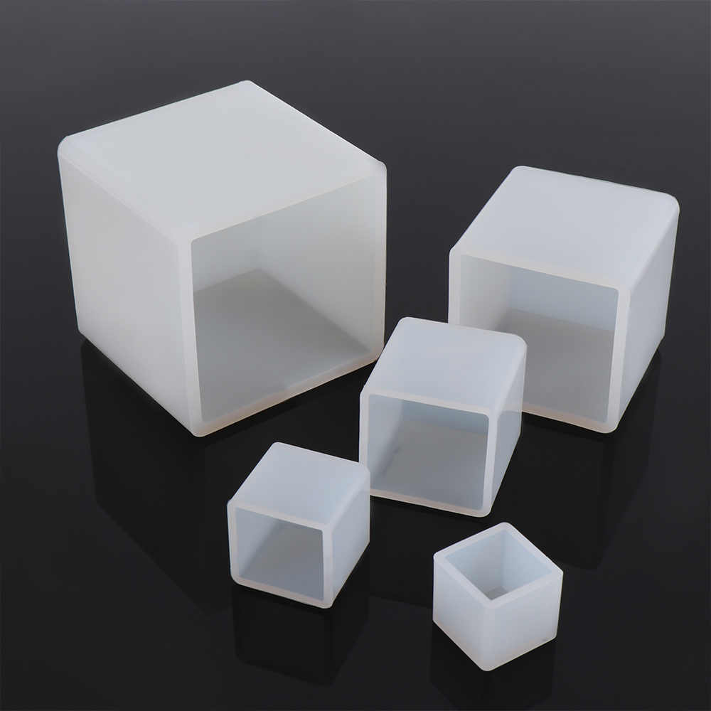 New DIY Silicone Pendant Mold Jewelry Making Cube Resin Casting Mould Craft Tool