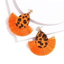 ONEVAN Bohemian Big Tassel Drop Earrings For Women Lady Female Fringe Handmade Brincos Statement Fashion Girl Boho Metal Earring