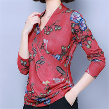 Autumn Fashion Women Blouse Women Blouses Korean Woman Long Sleeve Print Blouse Shirt Plus Size Womens Tops and Blouses Pullover игра настольная brain games айс класс ice cool