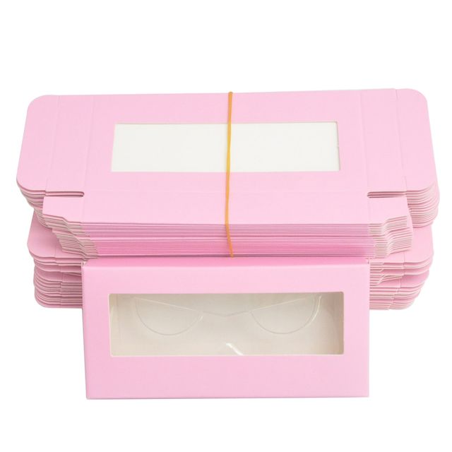 Wholesale Eyelash Packaging Box Lash Boxes Package Custom Without Tray Dark Pink Rectangle Cardboard Makeup Storage Case Vendor 1
