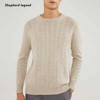 Men 100% Merino Cashmere Sweater Round Neck Knitted A Warm Sweater Comfortable Men Clothing Top Weave Knitted Vest Sweater