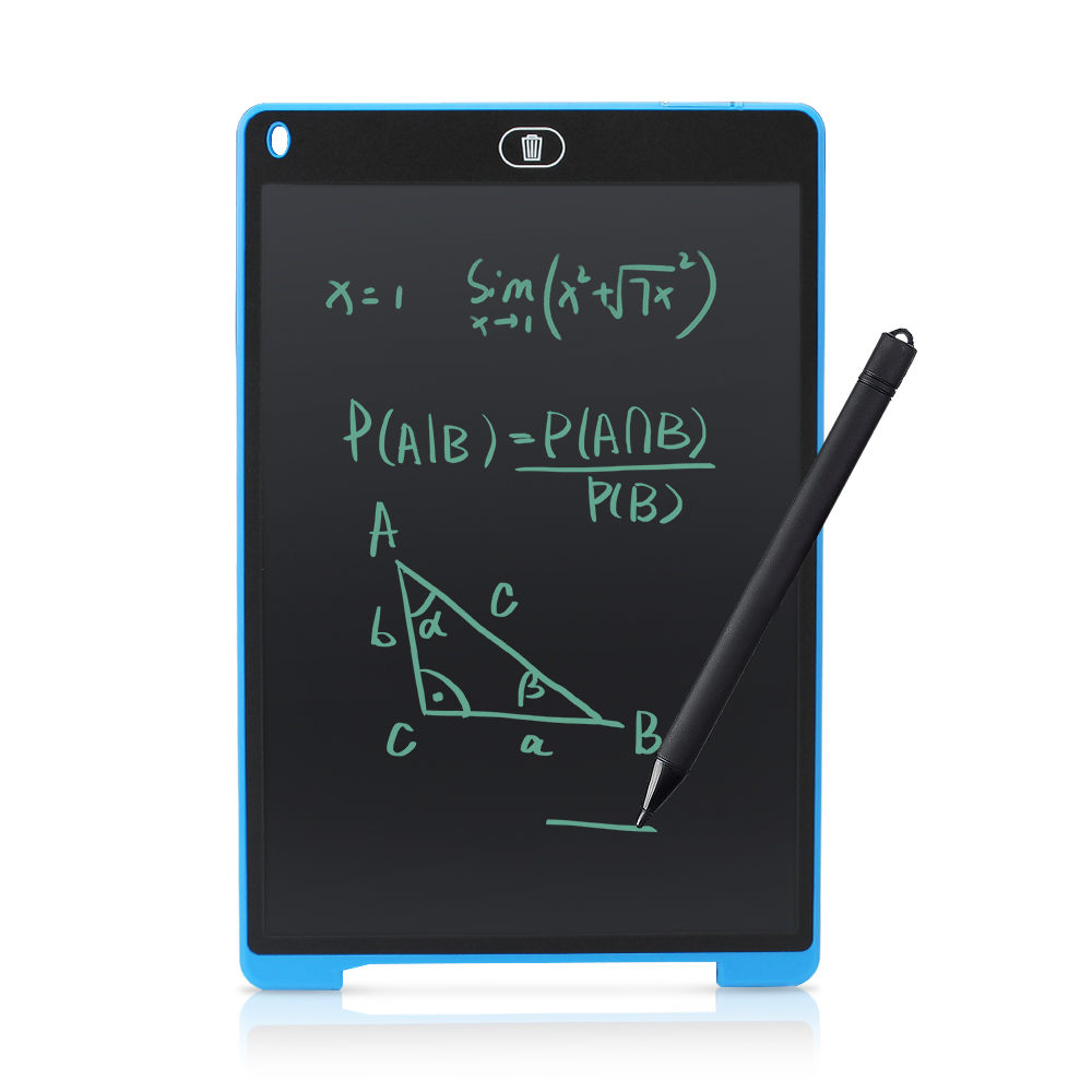 Детский планшет для рисования, цифровой графический планшет, ЖК-планшет для письма, 12 дюймов, электронный блокнот, портативная доска для рис...