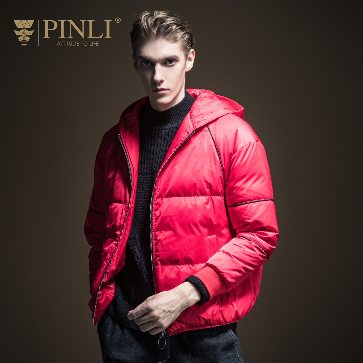 Down Jacket Rushed Jacket New Arrival 2019 Sale Sobretudo Pinli Winter Men's Solid Color Short Hooded Casual Coat B194208811