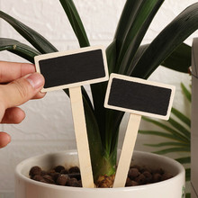 Garden-Decoration-Supplies Blackboard-Signs Plants-Tags Wooden Mini Home Durable And