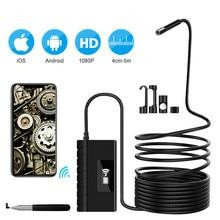 5.5Mm 1080PHD Wifi Kiểm Tra Camera WiFi Borescope Với 6 Đèn LED Chống Nước Camera Nội Soi Cho Android IOS Iphone Huawei