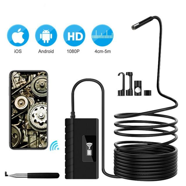 5,5mm 1080PHD Wifi Inspektion Kamera WiFi Endoskop mit 6 Led leuchten Wasserdichte Endoskop für Android iOS Iphone Huawei
