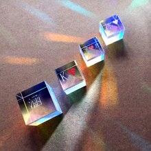 Комбинированный сплиттер крест дихроический куб RGB Призма Оптическое стекло треугольная призма для обучения светильник физика спектра