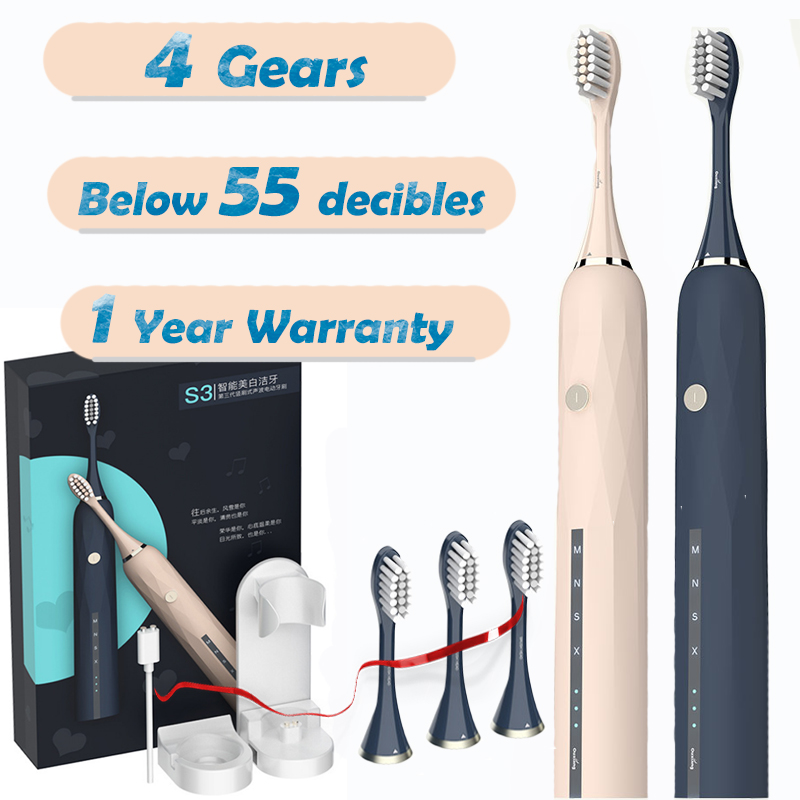 Automatic Sonic Electric Timer Toothbrush  Vibrating Whitening Power Rechargeable Tooth Brush USB For Adult Tooth Healthy