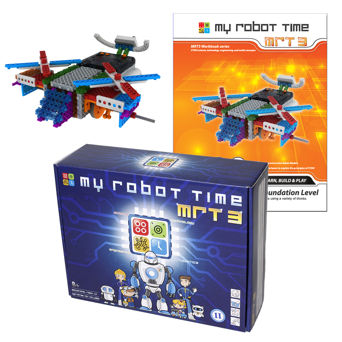 My Robot Time Multi-mode DIY RC Robots Building Block Kit Assembly Educational Robot Gift Toy for 7-12 Years Old (MRT 3-1/2/3/4)