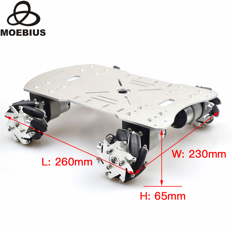 Mecanum Wheel Trolley Universal Wheel Remote Control Car Omnidirectional Wheel Smart Car Four-wheel Drive