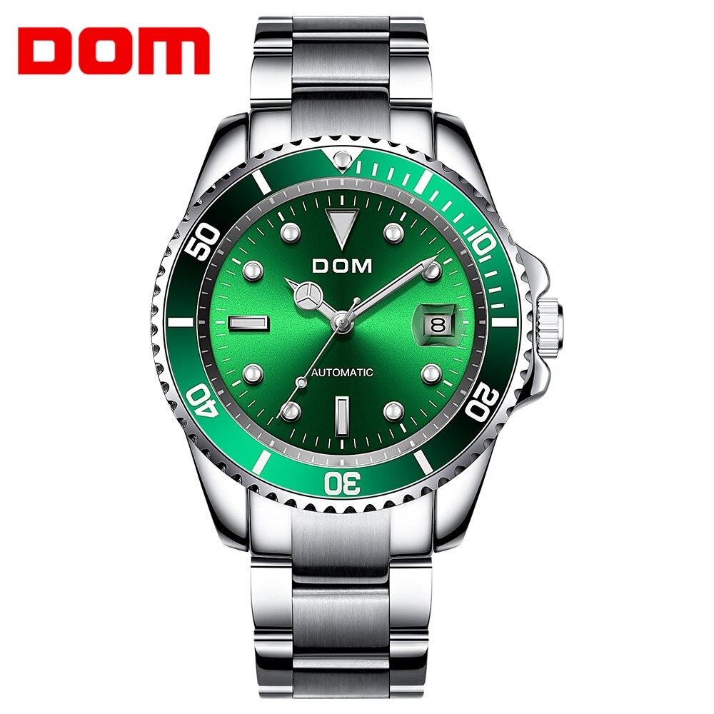 DOM роскошные механические наручные часы мужские спортивные часы Relogio Masculino нержавеющая сталь Ремешок Синие часы мужские водонепроницаемые M 1310|Механические часы|   | АлиЭкспресс