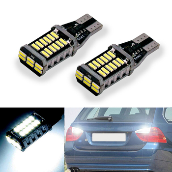 2X Canbus Car LED Lamp W16W Led T15 4014 Chip Backup Reverse Light Bulb For BMW 5 Series E60 E61 F10 F11 F07 E39 E90 Mini Cooper image