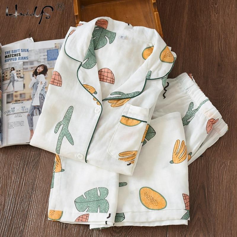 New Cartoon Sleepwear Heart Stripe Print Pajamas Sets Women Harajuku pajamas Men Women long sleeve shirt nighty Nightwear Set 204
