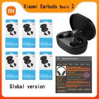 Xiaomi-auriculares inalámbricos Redmi Airdots 2, dispositivo de audio TWS, con Bluetooth 5,0, versión Global, básico 2, TWSEJ061LS, 10 Uds.