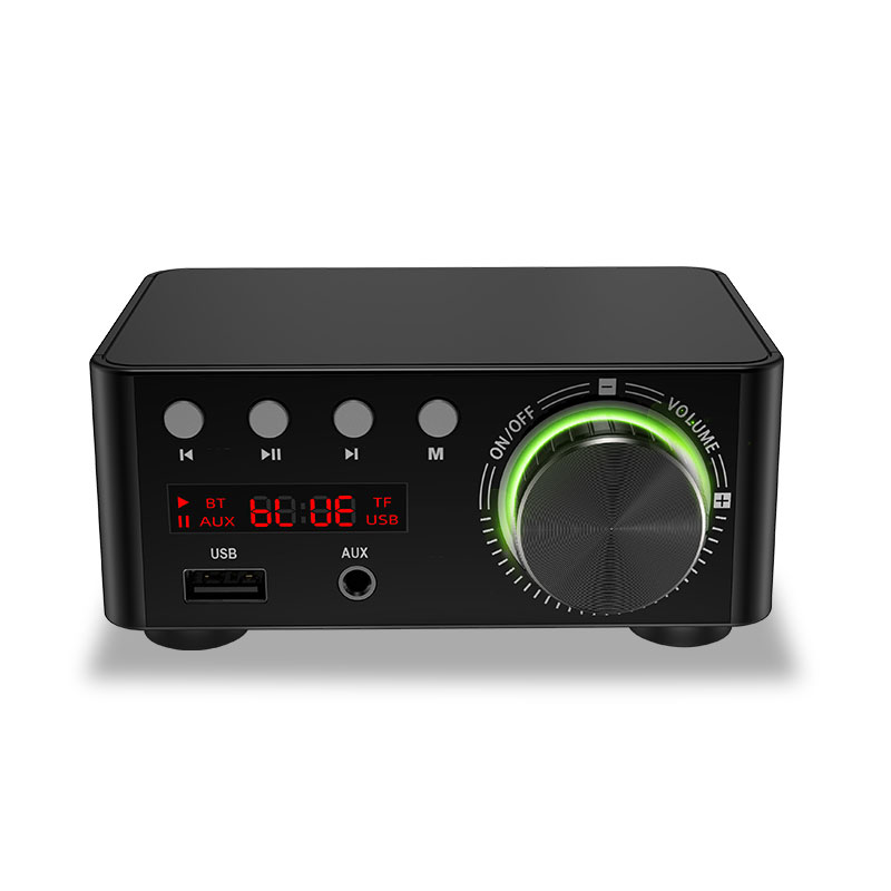 <font><b>2x50W</b></font> TPA3116 Class D bluetooth 5.0 <font><b>HIFI</b></font> Stereo <font><b>Amplifier</b></font> <font><b>HIFI</b></font> Support USB TF Card RCA AUX USB Stick MP3 image