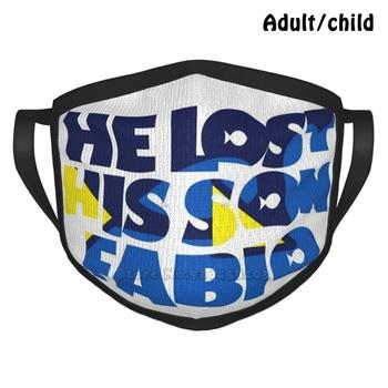 He Lost His Son , Fabio Custom Design Face Mask For Adult Kids Anti Dust Dory Nemo Fabio Chico Marlin Finding Musical Dinoland image