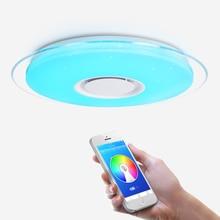 מודרני LED תקרת אור Bluetooth רמקול APP בקרת RGB עמעום חדר שינה סלון מטבח חדר ילדי אור תקרת מנורה